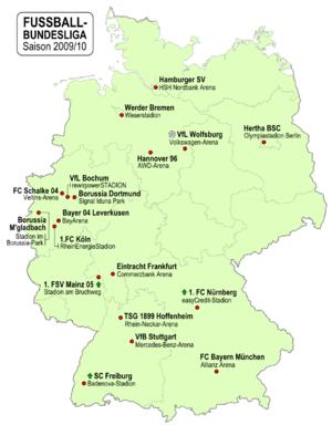 Fussball-Bundesliga Deutschland 2009-10