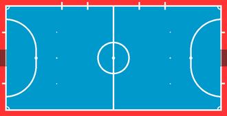Regole del gioco del calcio a 5 wikipedia - Misure porta calcio a 5 ...