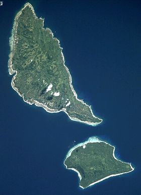 Futuna au nord et Alofi au sud (photo : NASA)