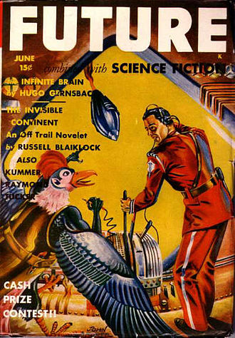 "Wilson Tucker - Tucker's ""The Princess of Detroit"" was the cover story for the June 1942 issue of Future"