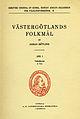Götlind, Västergötlands folkmål Del 1 (1940-41) omslag.jpg