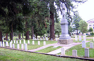 Eugene Pioneer Cemetery - G.A.R. plot at Eugene Pioneer Cemetery