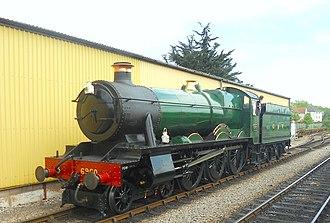 GWR 6959 Class - Image: GWR Class 6959 No 6990 Raveningham Hall Minehead