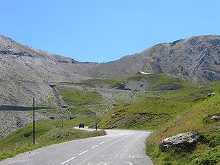 Col du Galibier Mountain pass in France