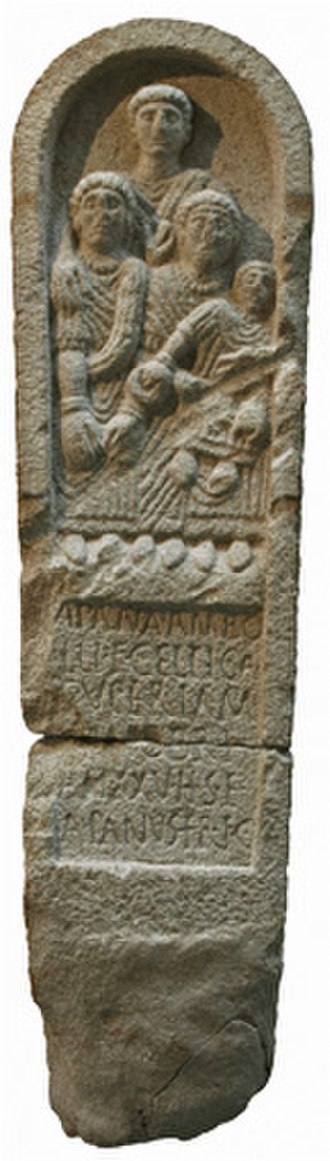 Hispanic - Image: Galician Celtic Stele Estela Galaica