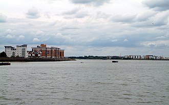 Gallions Reach Crossing - Approximate location of the crossing's proposed route in the Thames Estuary.