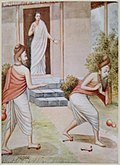 Gautama cursed his wife Ahalya for allowing Indra into her hermitage.jpg