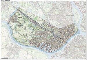 Zwijndrecht, Netherlands - Dutch Topographic map of Zwijndrecht, Sept. 2014