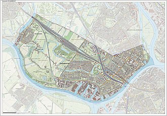 Zwijndrecht, Netherlands - Dutch Topographic map of Zwijndrecht, Sept. 2014