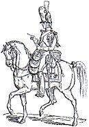 Gendarme a cavallo della Vecchia Guardia Adolphe de Chesnel