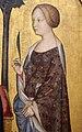 Gentile da fabriano, madonna in trono col bambino, i ss. nicola e caterina e due committenti, 1395-1400 ca. 02.JPG