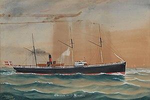 Geo Johansen - The Danish Steamship Christian IX.jpg