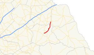 Georgia State Route 281 - Image: Georgia state route 281 map