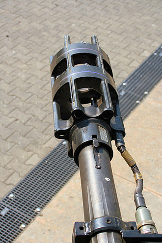 Flakpanzer Gepard - Closeup of the gun muzzle and the projectile velocity sensor