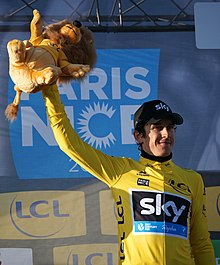 Geraint Thomas pictured here at the 2016 Paris–Nice 8df7093b9