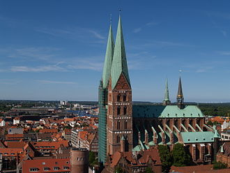 St. Mary's Church, Lübeck - Image: Germany Luebeck overview north