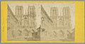 Gezicht op de façade van de Notre-Dame in Parijs Notre Dame (titel op object), RP-F-F05677.jpg