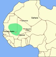 carte de l'ouest de l'Afrique avec une zone verte au nord du golfe de Guinée