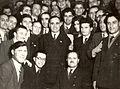 Gheorghiu-Dej, Ceausescu & delegates in Feb 1948.jpg