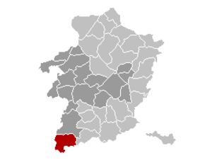 Gingelom - Image: Gingelom Limburg Belgium Map