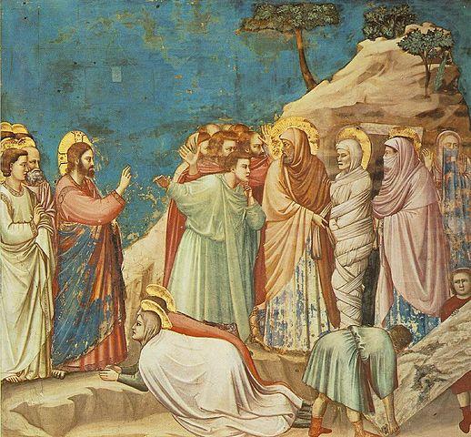 Воскрешение Лазаря. Фреска Джотто в капелле Скровеньи