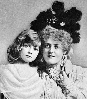 Gladys Cooper - Cooper (l.) and  Marie Studholme, c. 1894