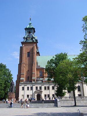 Gniezno Cathedral - One of two frontal towers.