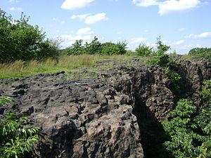 Goffle Hill - Basalt cliffs on the southern ridge