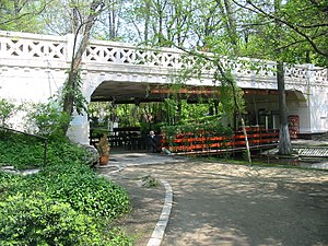 George Constantinescu - Concrete bridge in Carol Park, Bucharest, designed by G. Constantinescu and dedicated in 1906. It was the first concrete bridge with straight beams in Romania.
