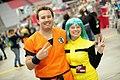 Goku & Bulma cosplayers (15408369753).jpg