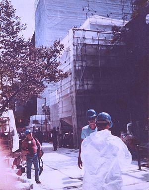 Gramercy Park asbestos steam explosion - Asbestos cleanup at Gramercy Park