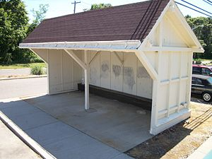 Great River (LIRR station) - The old LIRR shed at Great River station.