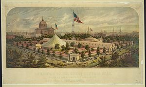 Philadelphia in the American Civil War - Great Central Fair, Logan Square, Philadelphia, June 1864.