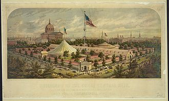 Centennial Exposition - The Great Sanitary Fair (1864) was the model for the Centennial Exhibition. It had raised $1,046,859 for medicine and bandages during the American Civil War.