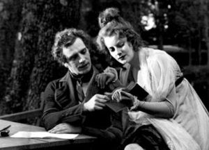 Greta Garbo - Garbo in her first leading role in the Swedish film The Saga of Gösta Berling (1924) with Lars Hanson