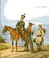 Großherzoglich Hessische Gendarmen zu Pferd und zu Fuß um 1840.jpg