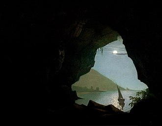 Grotto in the Gulf of Salerno - Image: Grotto in the Gulf of S Alerno by Joseph Wright