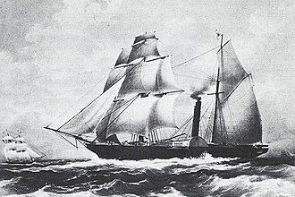 Ironclad warship - Mexican frigate Guadalupe 1842