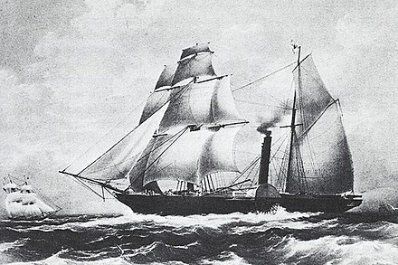 Mexican frigate Guadalupe 1842 Guadalupe Frigate 1842 (Mexico).jpg