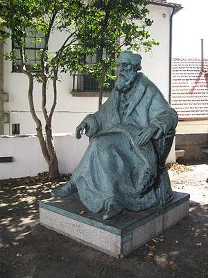 Guerra Junqueiro - Bronze statue of Guerra Junqueiro (1850-1923) by Leopoldo de Almeida (1970) in the gardens of the Casa-Museu Guerra Junqueiro.