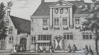 Guild of Saint Luke - 1730s engraving of the Delft Guild of St. Luke, by an unknown artist. Today the location of the Vermeer Centre