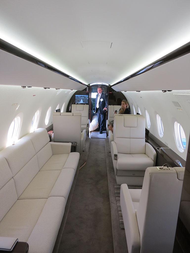 File Gulfstream G280 Cabin Interior Forward View Jpg