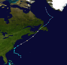 Map plotting the track and the intensity of the storm, according to the Saffir-Simpson scale Gustav 2002 track.png