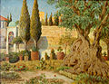 Gustav Rockholtz, Jerusalem (Garten Gethsemane).jpg