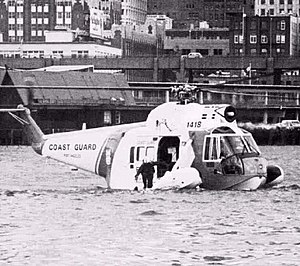 Sikorsky HH-52 Seaguard - U.S. Coast Guard HH-52A floating on the sea in 1979
