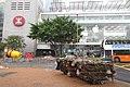 HK 中西區海濱長廊 Central Waterfront Promenade Sept 2017 IX1 Man Yiu Street IFC mall n MTR Station sign red.jpg