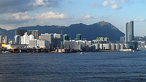 Hung Hom - Hung Hom skyline in 2007, viewed from the south (Victoria Harbour).