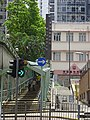 HK Sai Wan Ho Street Holy Cross Path stairs steps covered walkway visitors July 2016 Bishop Lei Pastoral 李宏基 n church.jpg