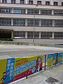 HK Sai Ying Pun 西營盤 第三街 Third Street banners Paul Zimmerman Cheng Kam Mun Aug 2016 聖類斯中小學 St Louis School.jpg