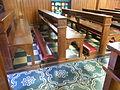 HK Sai Ying Pun Third Street 聖安多尼堂 Saint Anthony's Catholic Church long bench n flooring pattern July-2012.JPG